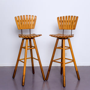Two Bar Stools by  Arthur Umanoff  1960