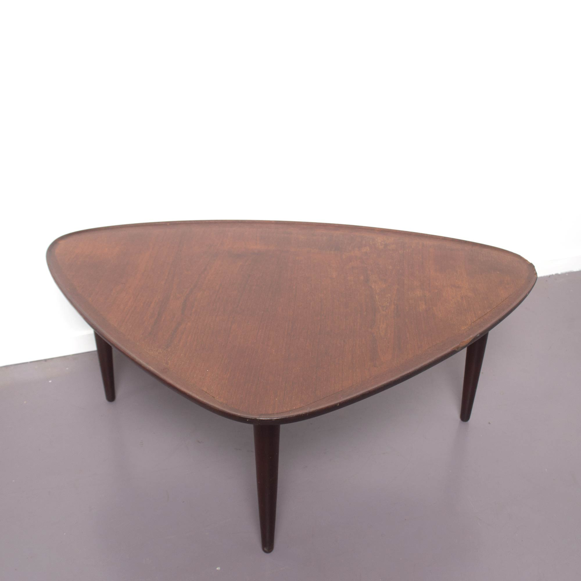 Mid-Century Guitar Pick Danish Teak Coffee Table, 1960