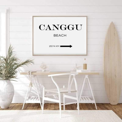 Custom destination wall art print in a home office