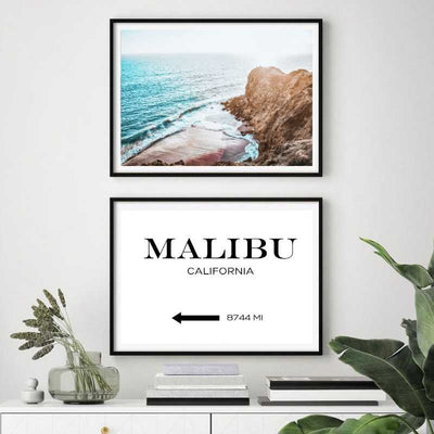 Custom destination wall art print with the big sur wall art print