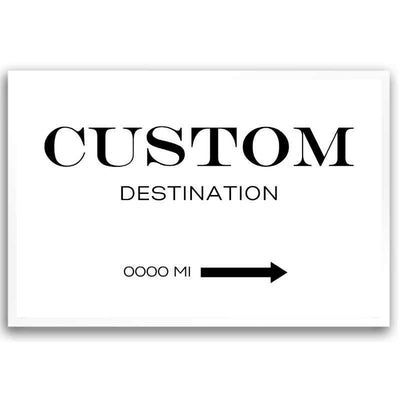 Custom destination wall art print.