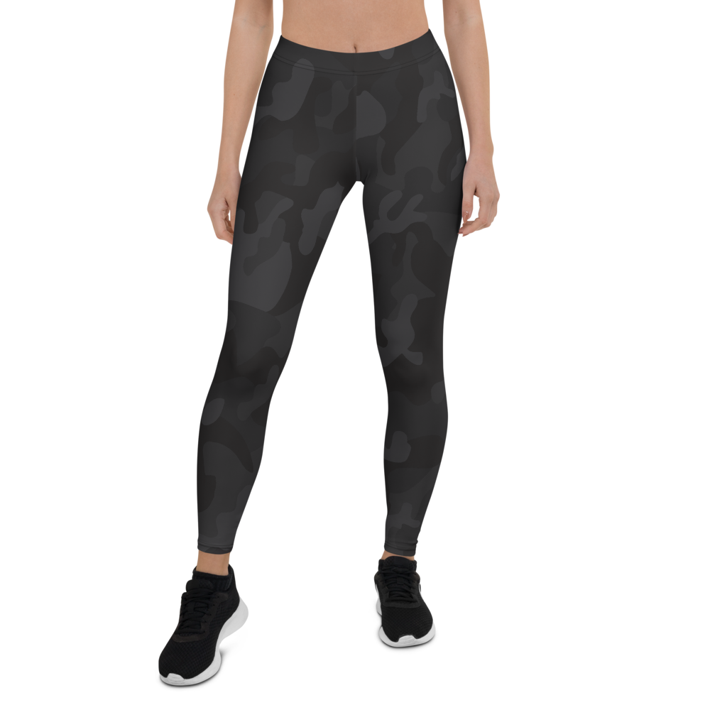Camo Black Womens Yoga Leggings