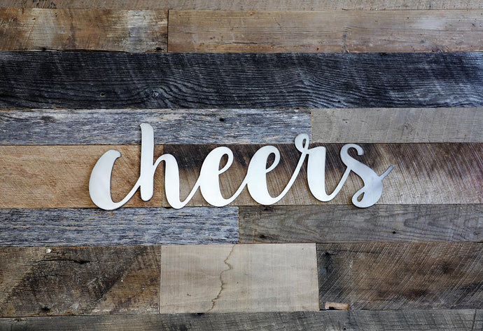 Metal Cheers Sign