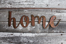 Load image into Gallery viewer, Metal Home Sign