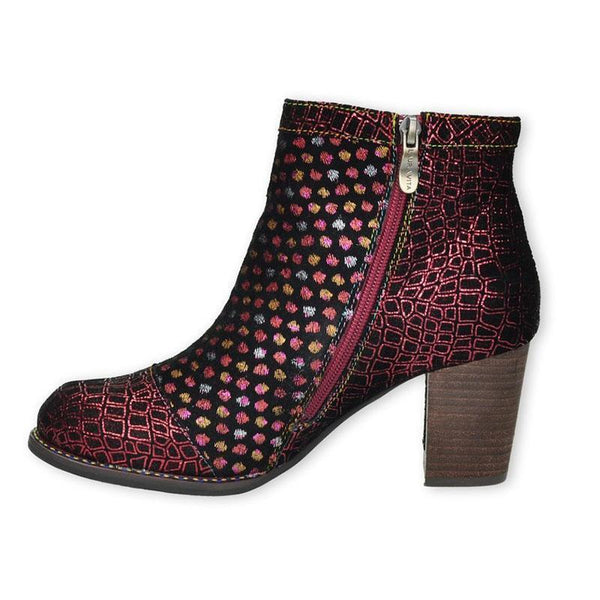 ANNA Retro Genuine Leather Zipper Handmade Comfortable Ankle Boots