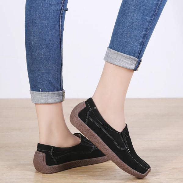 Women's Leather Casual Fashion Daliy Walking Driving Flat Loafer