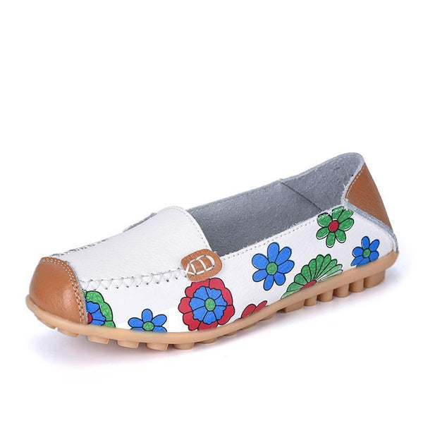 Women's Genuine Leather Leisure Boat Flats