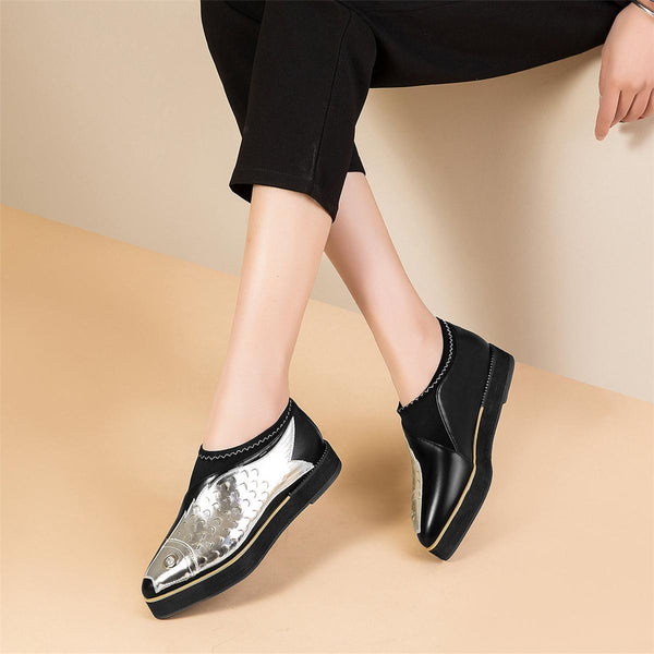 Women's Slip On Platform Fish Design Sneakers