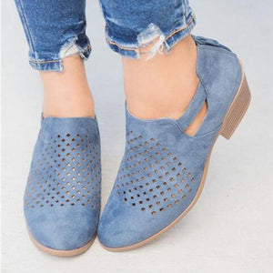 9eb08579b70 Andynzoe Breathable Vintage Mesh Hole Women Ankle Boots