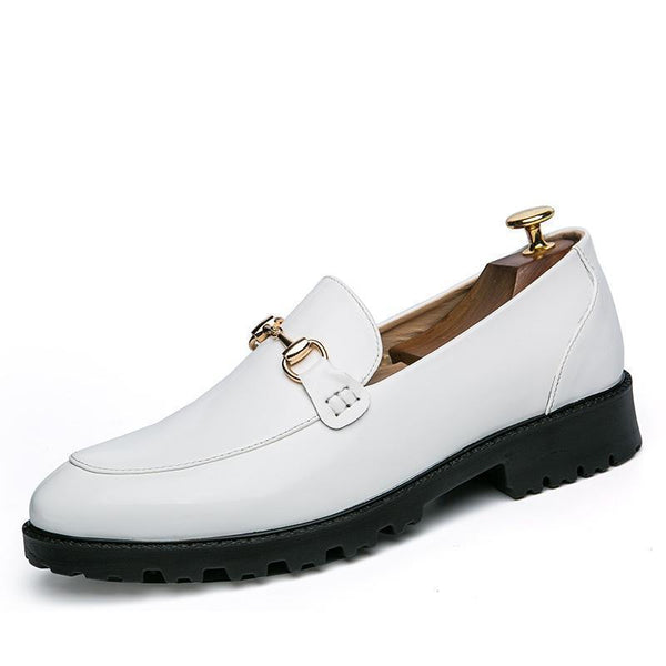 Men's Metal Chain Slip-on Formal Casual Loafers