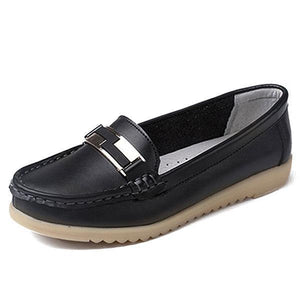 Women Soft Cow Leather Casual Moccasins Loafers