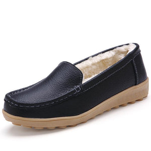 Women Plus Velvet Warm Cotton Peas Shoes