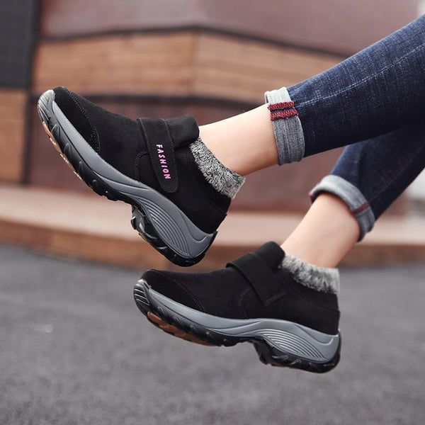 Women's Winter  Warm Push Ankle  High Wedge Boots
