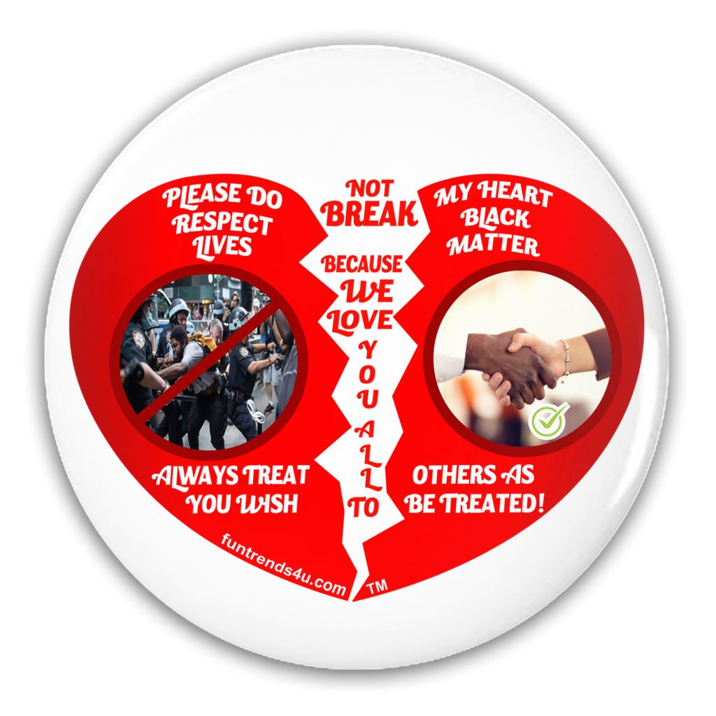 Black and White Anti-Bully Pin funtrends4u.com 3 inch Round Button 1 Pack