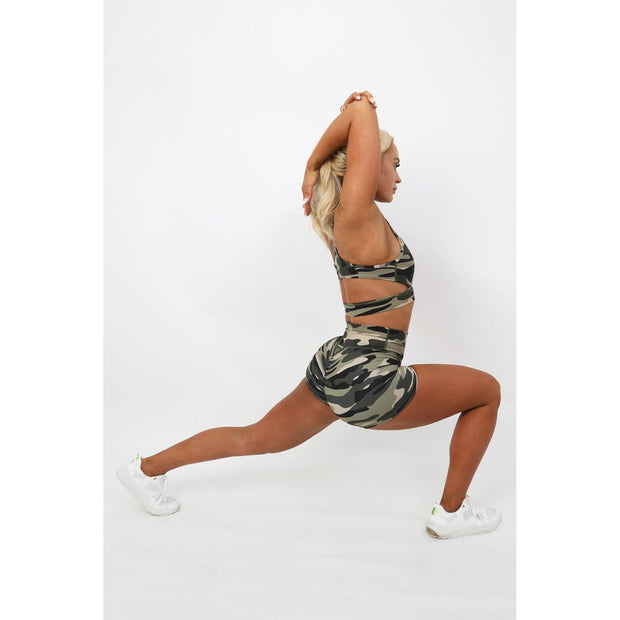 Camouflage High Impact Sports Bra