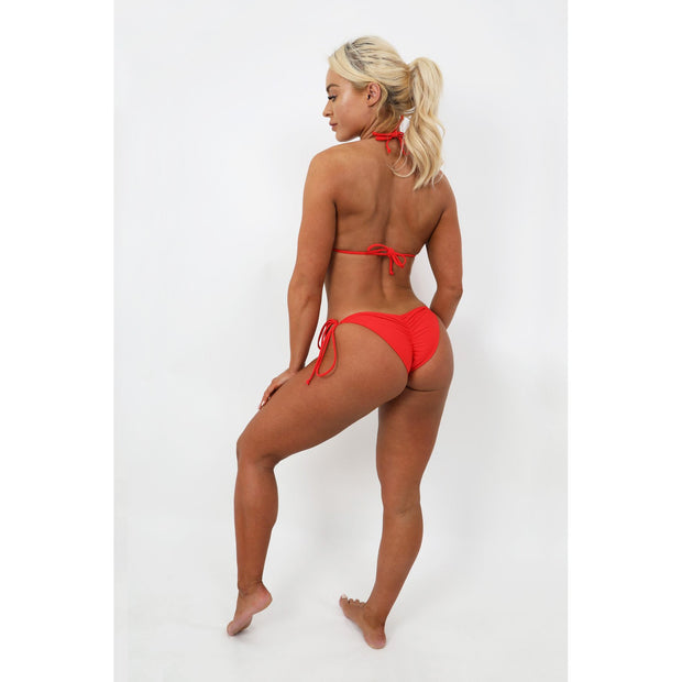 Red Scrunch Bikini Bottoms
