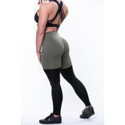 Khaki 2 Tone Leggings