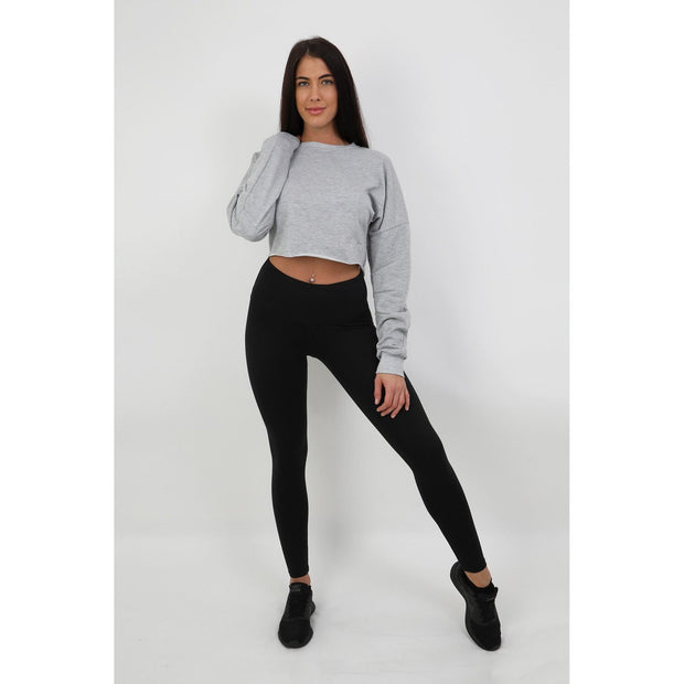 Grey Cropped Jumper
