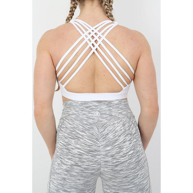 Athena Sports Bra White