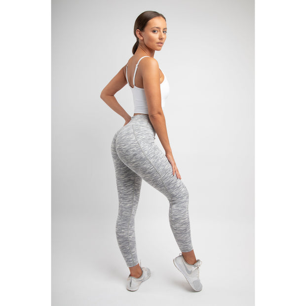 White Marble Pocket Leggings