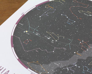 Skies Above Custom Star Map