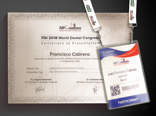 FDI WORLD DENTAL CONGRESS CLEMDE PF KEEP