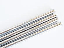 Load image into Gallery viewer, Smoothie Straws Stainless Steel: Pack of 4 plus Cleaning Brush