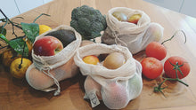 Load image into Gallery viewer, HIPPIESTRAW LARGE REUSABLE PRODUCE BAGS 100% ORGANIC COTTON