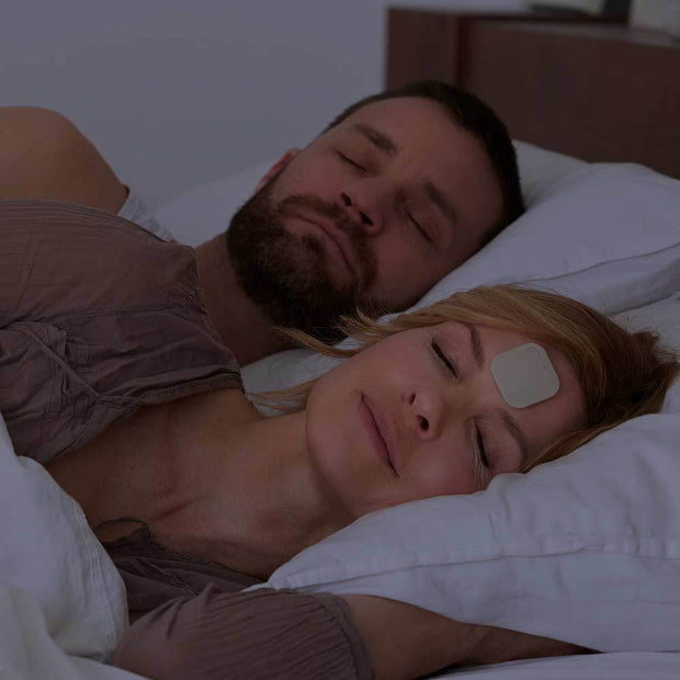 snoring device on forehead