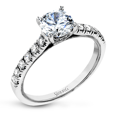 Milgrain Diamond Solitaire