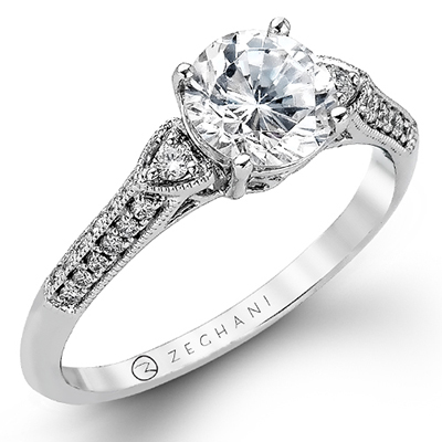 Milgrain Diamond Edge Solitaire