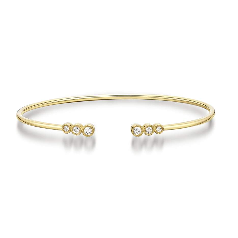 Diamond Open Bangle