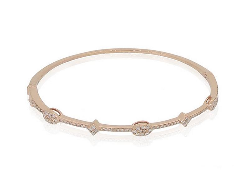 Geometric Bangle in Rose