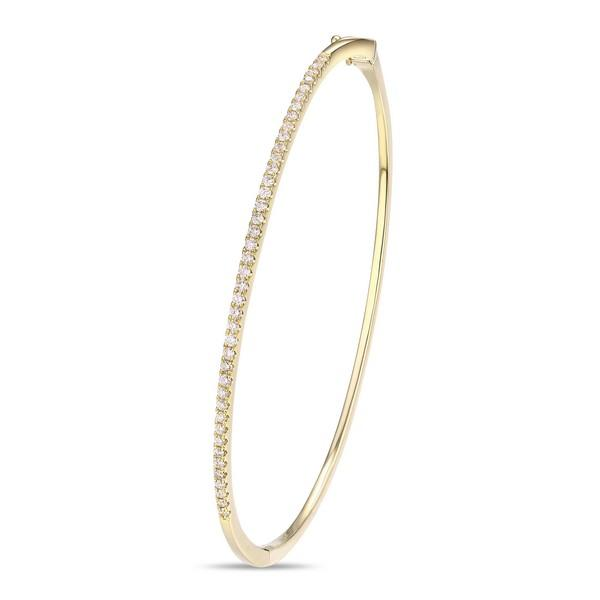 Diamond Bangle in Yellow