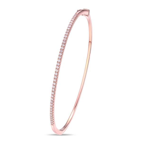 Diamond Bangle in Rose