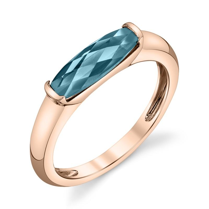 London Blue Topaz Bar Ring