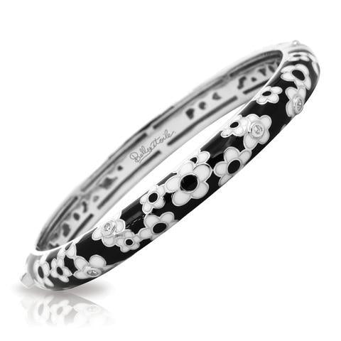 Black & White Daisies Bangle