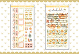 Loving Fall Foil Hobonichi Weeks Sticker - H012