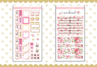Bunnies Love Foil Hobonichi Weeks Sticker - H014