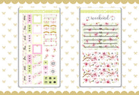 Cherry Blossom Foil Hobonichi Weeks Sticker - H015