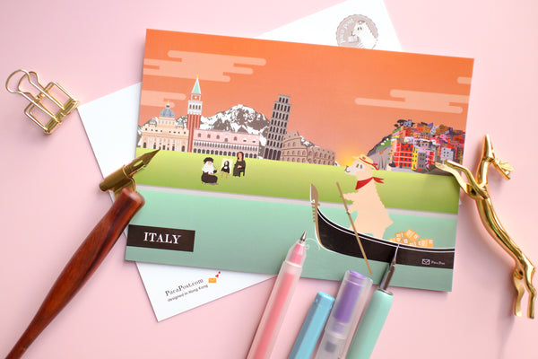 Italy Travel Postcard