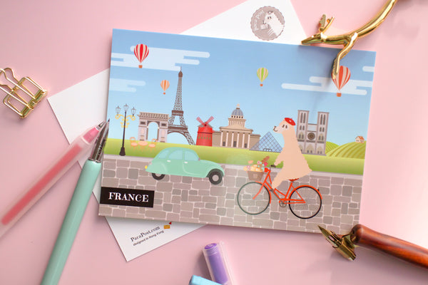 France Travel Postcard