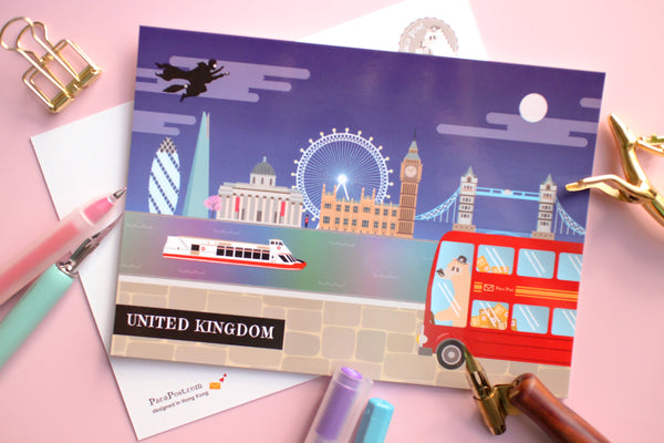 United Kingdom Travel Postcard
