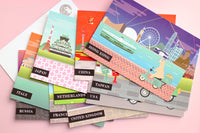 Set of 10 Travel Postcards