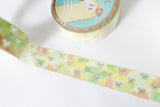 Fruity Bloom Bow Washi with Silver Foiling