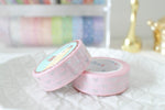 Classic Pink Bow Washi with Silver Foiling