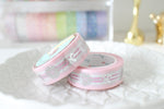 Ribbon Bow in Pink Washi with Silver Foiling