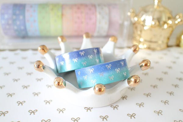 Aurora Bow Washi with Holo Silver Foiling