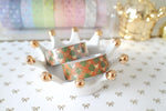 Fall Plaid Bow Washi with Gold Foiling