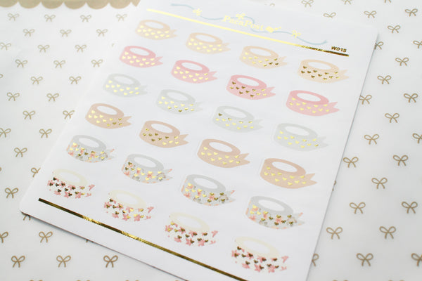 Foiled Washi Roll Stickers (Fall colors) - W015